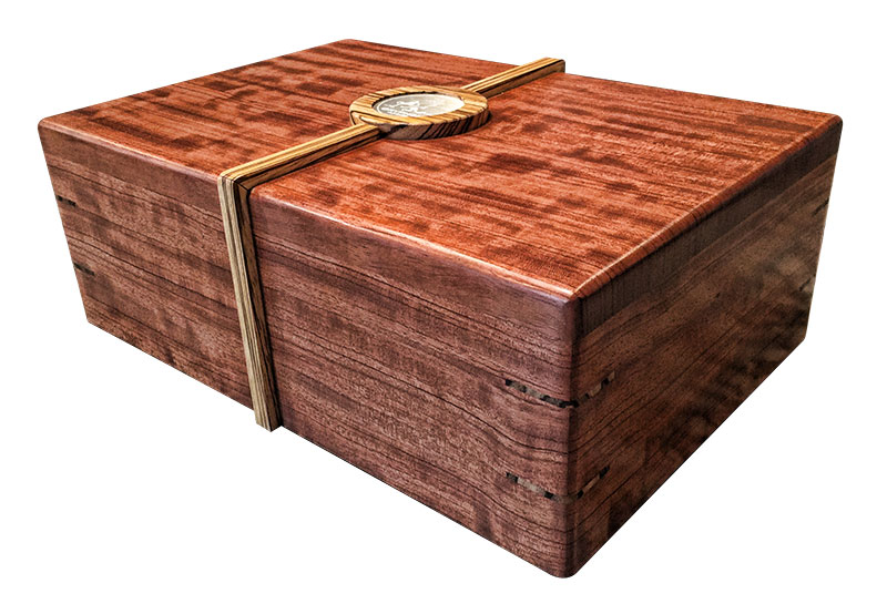 The Merlin desktop cigar humidor