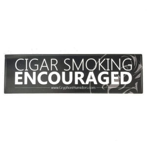 Cigar Smoking Encouraged vinyl sticker