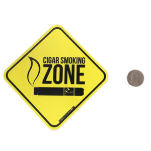 Cigar Smoking Zone vinyl sticker