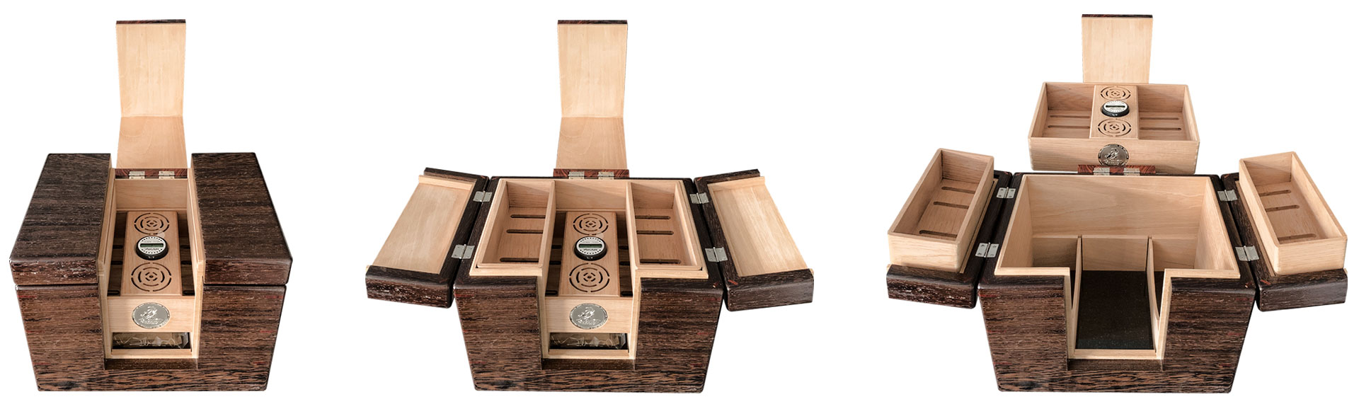 The Lancelot cigar humidor opening